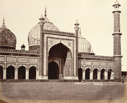 The Jumma Musjid, from the courtyard, Delhi. .